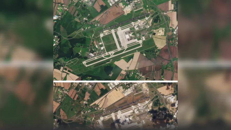 Krasse Satelliten-Bilder: So ausgetrocknet ist Deutschland