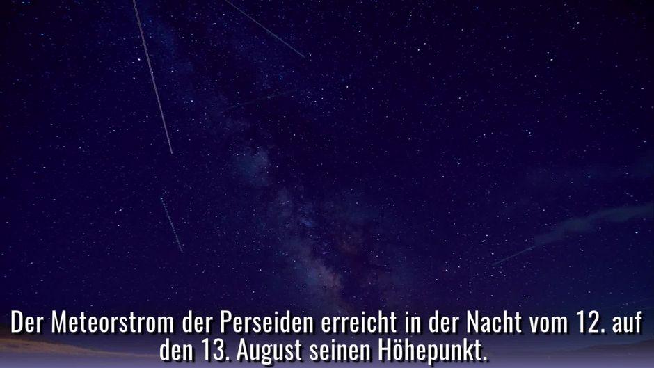 Perseiden Die Grosste Sternschnuppen Nacht Des Jahres Steht Bevor