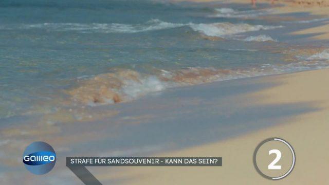 Strafe für Sandsouvenir - kann das sein?