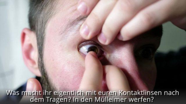 Aktuelle Studie: Kontaktlinsen solltet ihr nicht im Klo runterspülen