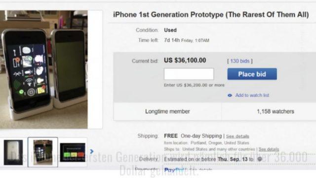 Auf eBay wird ein altes iPhone für 40.000 Dollar versteigert