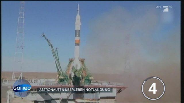 Astronauten überleben Notlandung
