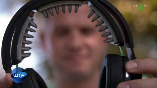 Kopfhörer, durch die Strom fließt