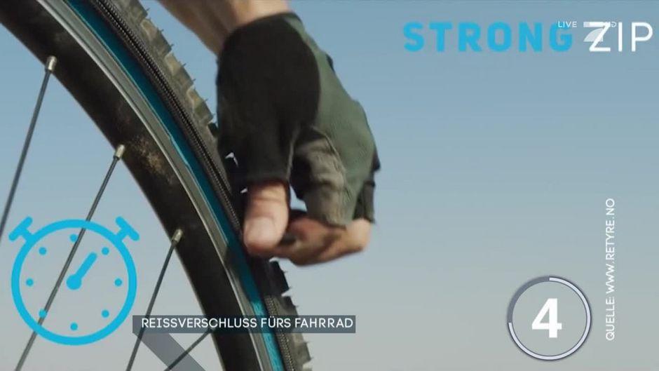 Neue Erfindung: Der Reißverschluss fürs Fahrrad