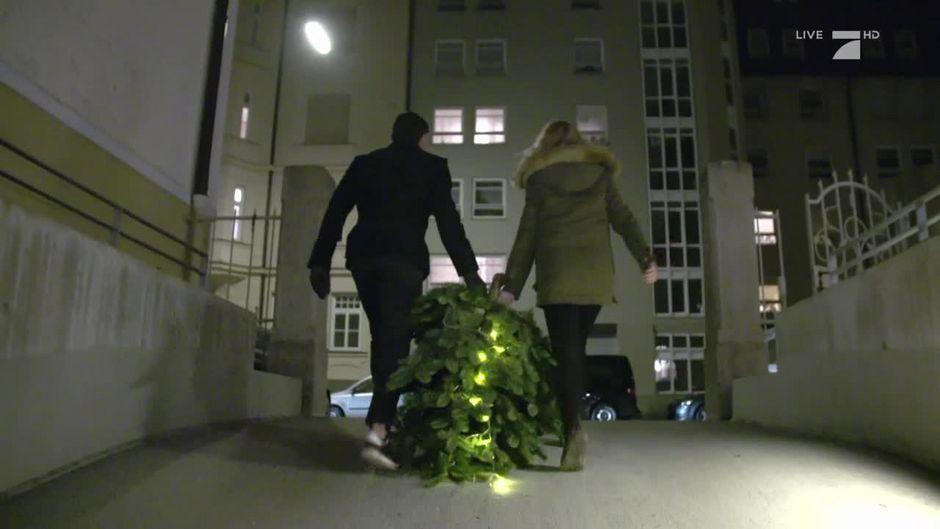 Darf der Weihnachtsbaum über den Balkon entsorgt werden?