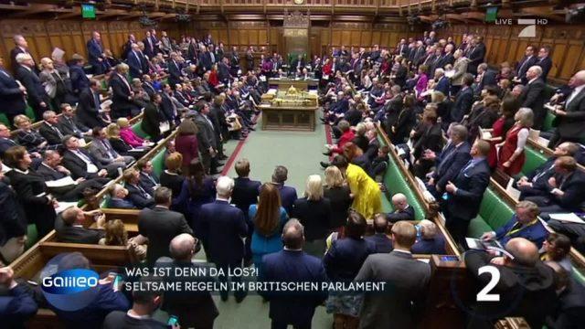 Kuriose Regeln im Britischen Parlament