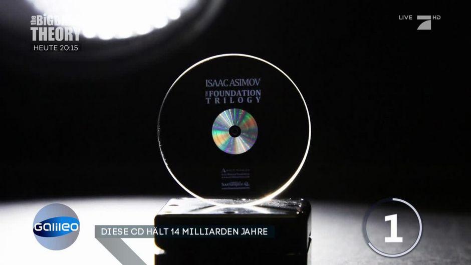 CD im Weltall: Wissen der Menschheit ist dadurch gesichert