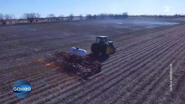 Bauer setzt sein Feld in Flammen - was steckt dahinter?