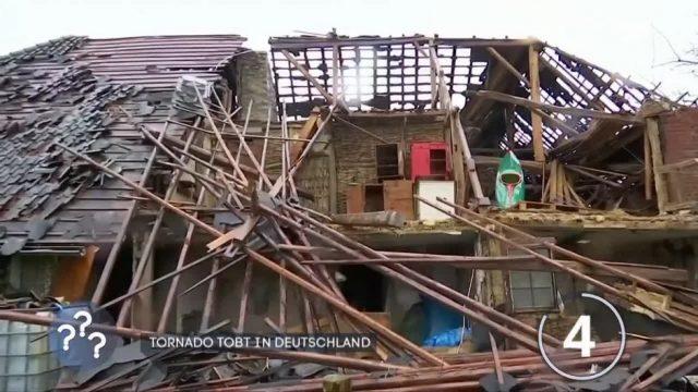 Tornado wütet über Deutschland