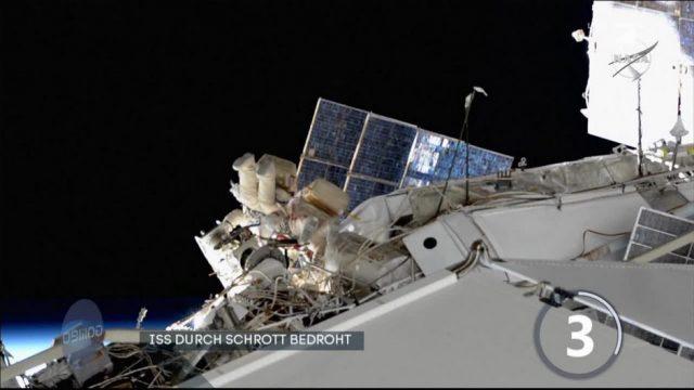 Fragen des Tages: Raumstation ISS durch Schrott bedroht