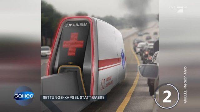 Rettungskapsel: Macht diese Erfindung die Rettungsgasse überflüssig?