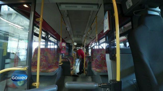30 Busse in 8 Stunden: Der harte Job als Busputzer