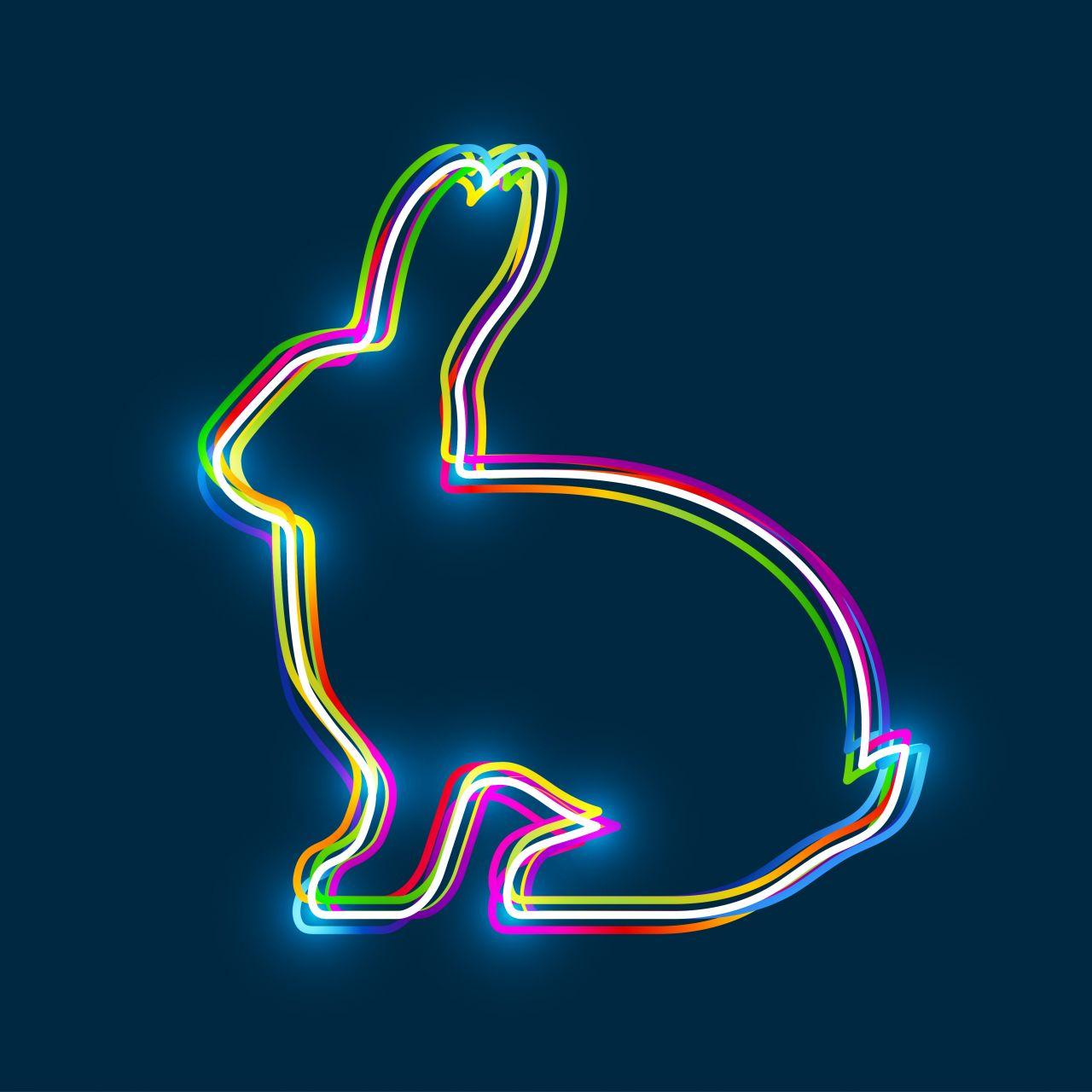 Leuchtendes Kanninchen