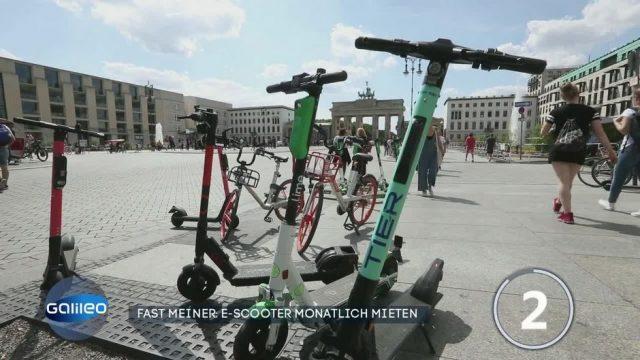 Fast meiner: E-Scooter monatlich mieten