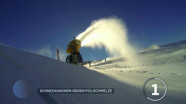 Klimawandel: Schneekanonen gegen Polschmelze