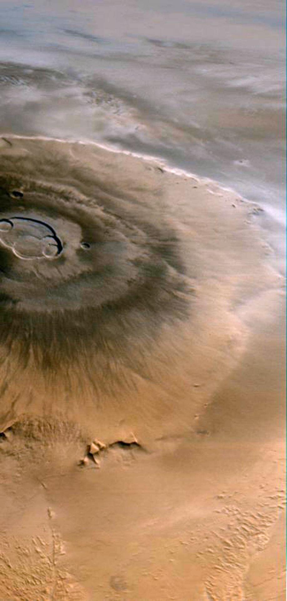 Olympus Mons auf dem Mars