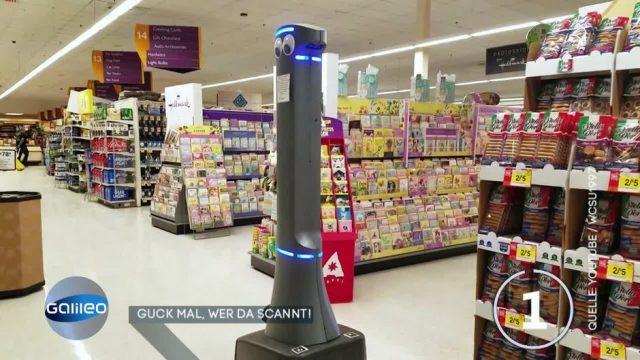 5G-Roboter im Supermarkt