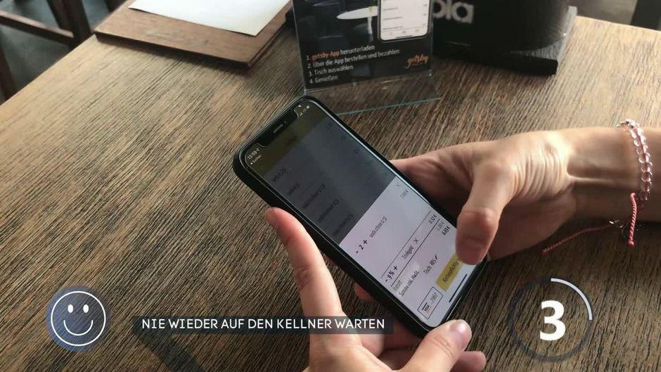 Nie mehr auf den Kellner warten: Eine neue App macht's möglich!