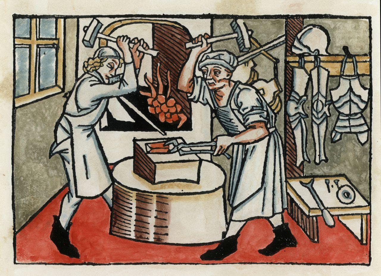 Schmied im Mittelalter
