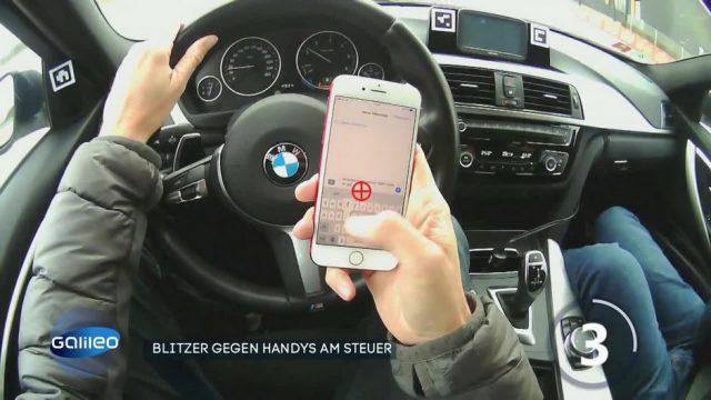 Blitzer gegen Handys am Steuer