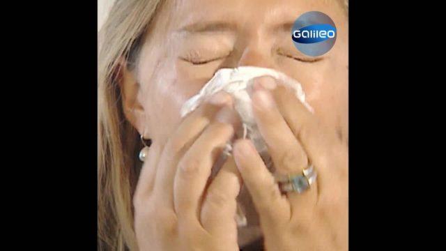Schnupfen: Warum ist immer ein Nasenloch verstopft?