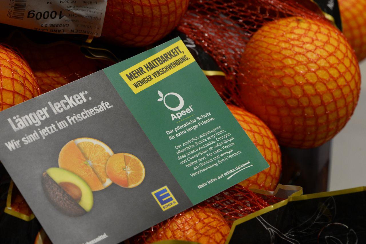 Essbarer Überzug für Obst und Gemüse