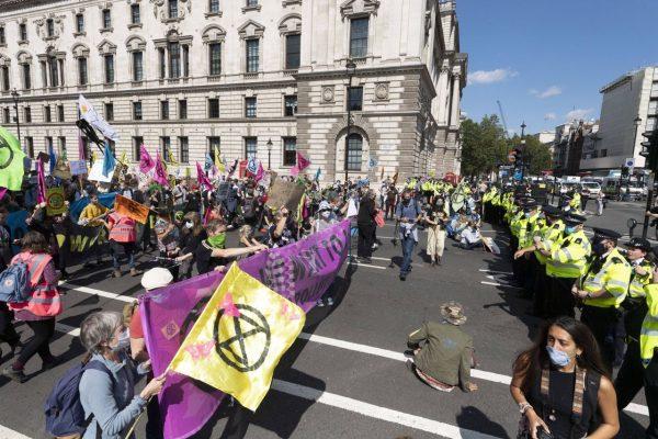 Die Extinction Rebellion BBewegung hat ihren Ursprung in London.