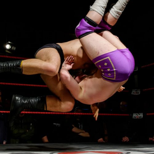 ERFURT, GERMANY - NOVEMBER 05: Timothy Thatcher fights against Bobby Guns during wXw Fight Forever Tour 2017 on November 5, 2017 in Erfurt, Germany. (Photo by Matthias Hangst/Getty Images,)