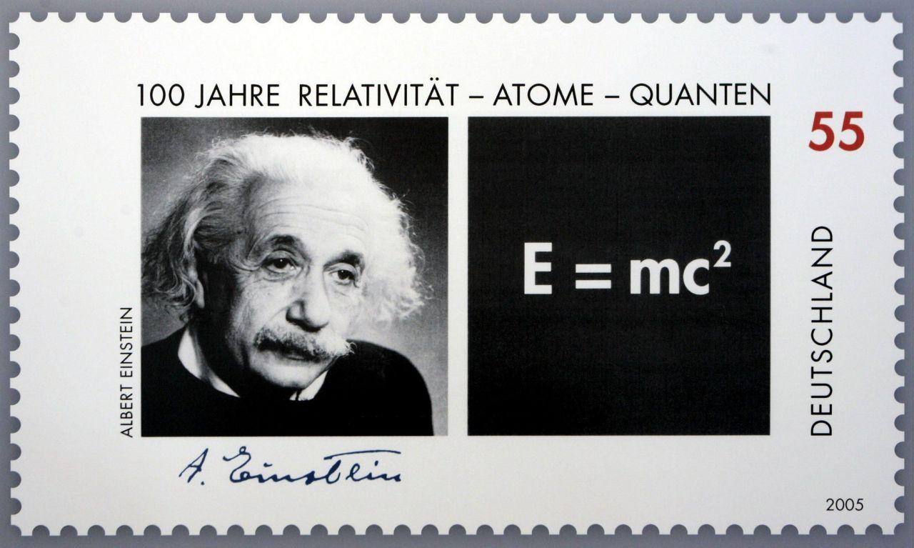 Briefmarke mit Albert Einstein
