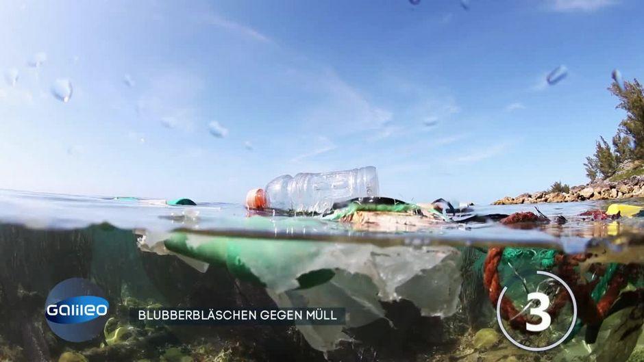 Können Blubberbläschen das Müllproblem in Gewässern lösen?