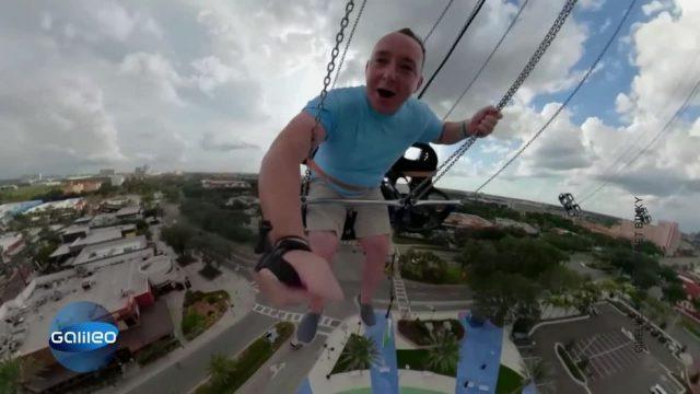 Ungewöhnliches Experiment: Mit Höhenangst auf 130 Meter-Karussel