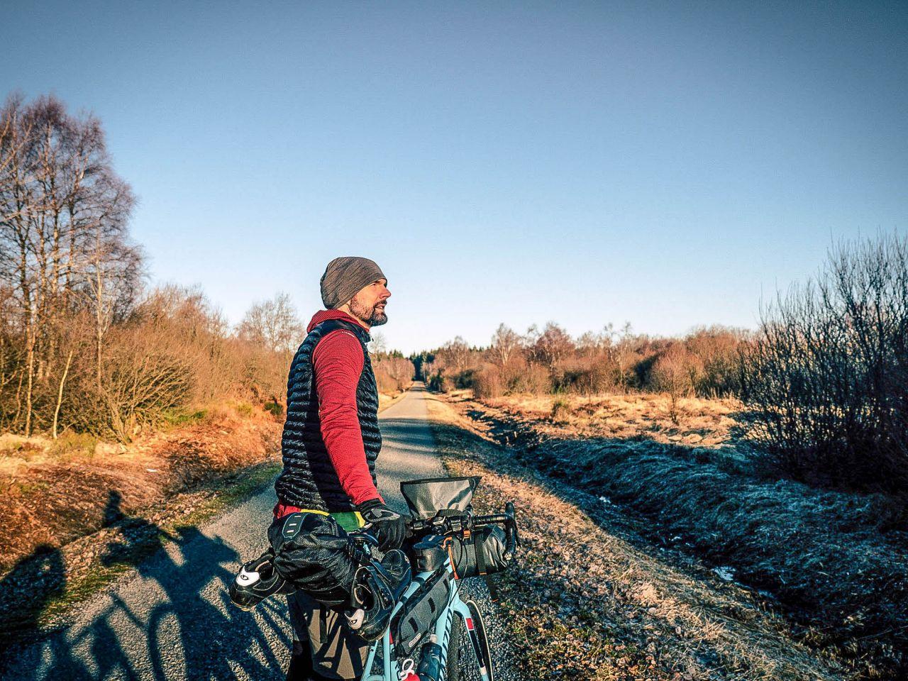 Christo Foerster und sein Fahrrad