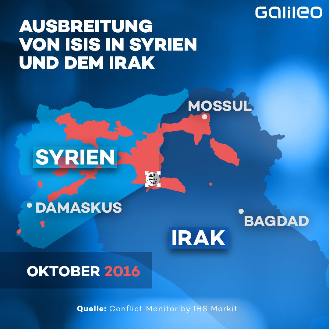 ISIS Ausbreitung Gebiet