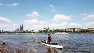 Christo Foerster im Kanu