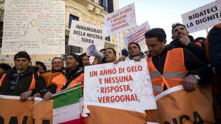 Olivenbauern protestieren in Rom