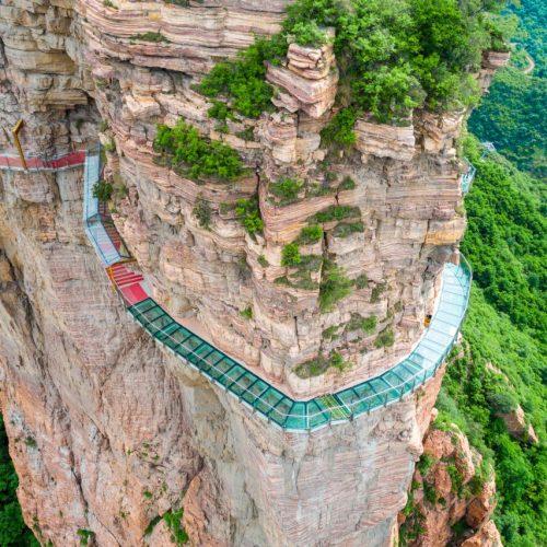 gläserne Brücke im Taihang-Gebirge