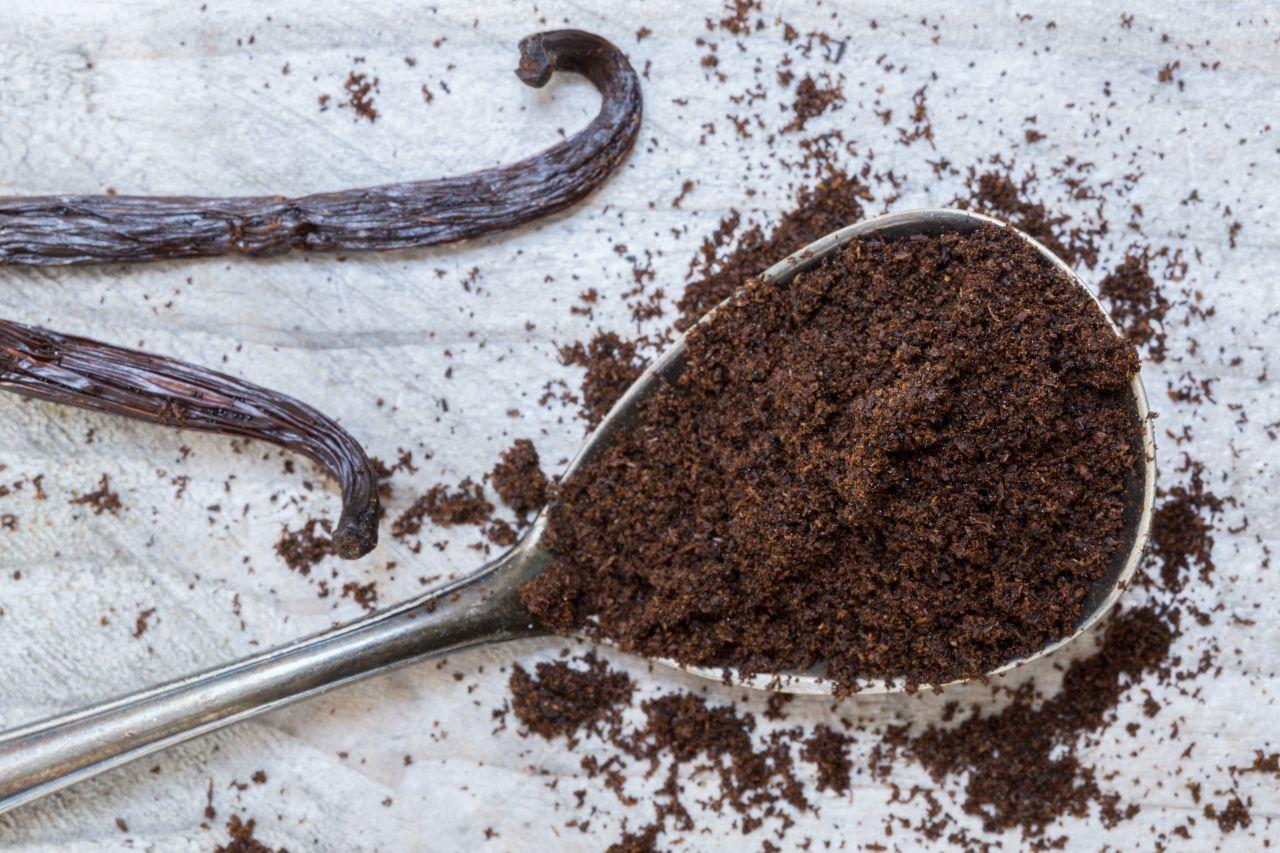 Vanille-Schote und Pulver