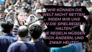 Greta Thunberg bei einer Demonstration