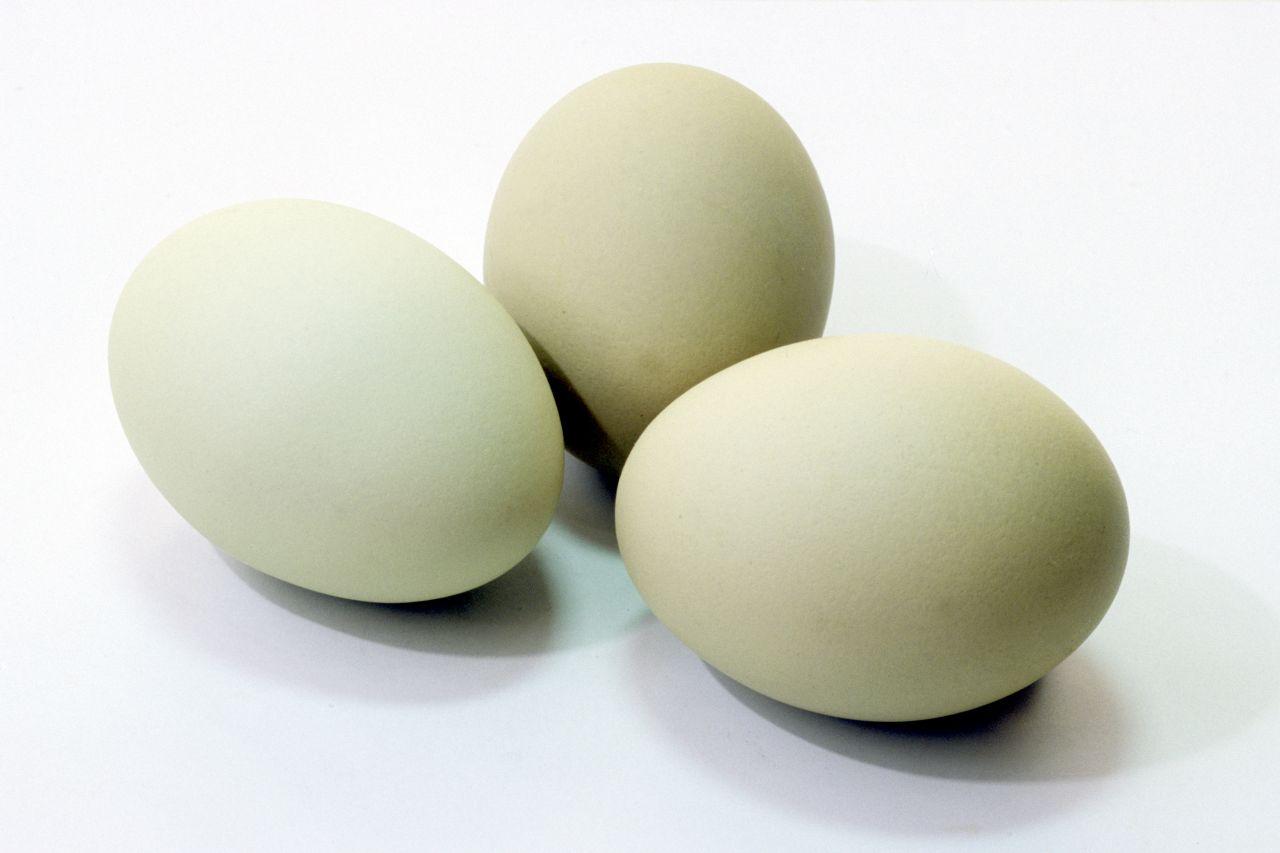 Eier der Hühnerrasse Araucaner