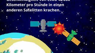 Wie schnell kollidieren Satelliten?