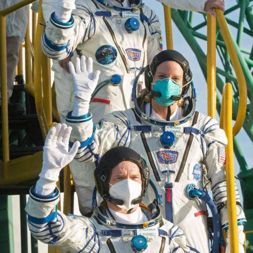 Astronauten vor ihrer Weltall-Mission