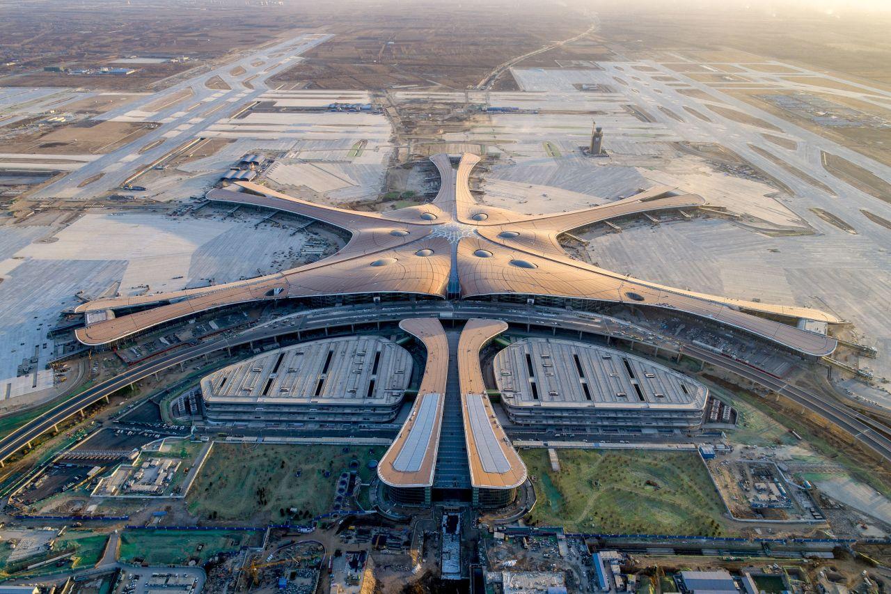 Der Flughafen in Peking ist der größte der Welt