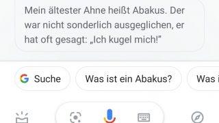 Der Google Assistant nennt seine ältesten Vorfahren: den Abakus.