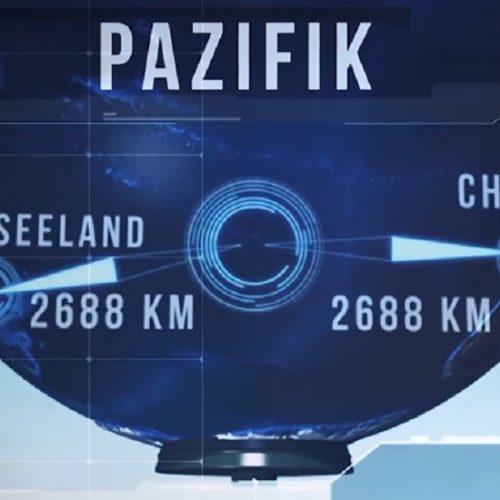 Einsamster Ort der Welt: Point Nemo liegt im Südpazifik zwischen Neuseeland und Chile.