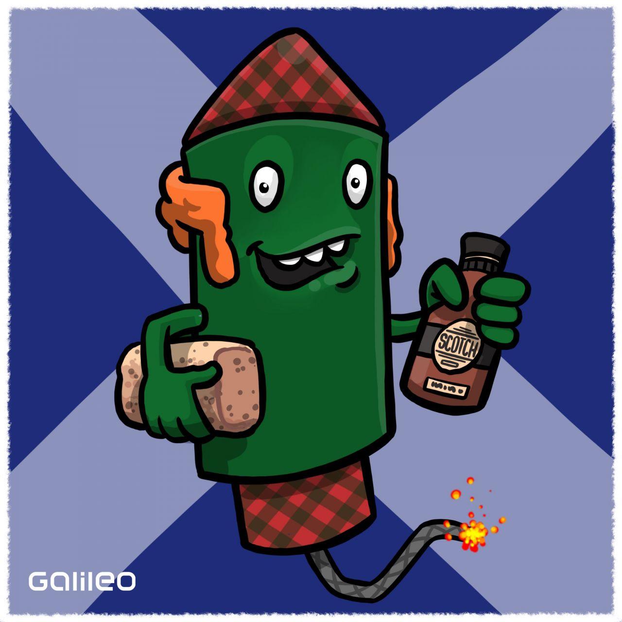 Schottland: Wenn um Mitternacht ein geliebter Mensch vor deiner Tür steht, der Whiskey, schwarze Kohle und Rosinenbrot dabei hat, dann rein mit ihm - das wird ein gutes Jahr.