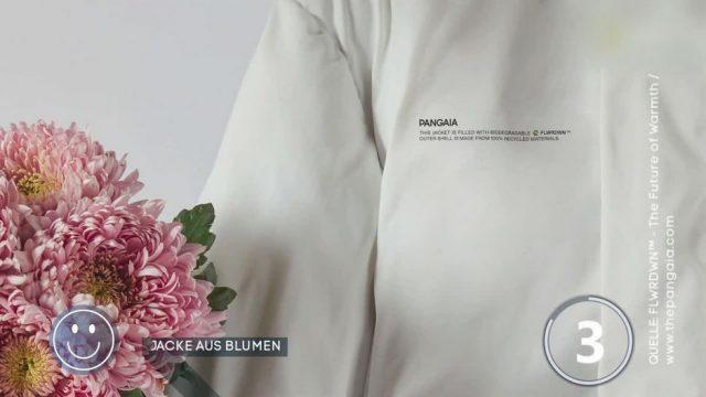 Daunenfrei: Jacke gefüllt mit Blumen?
