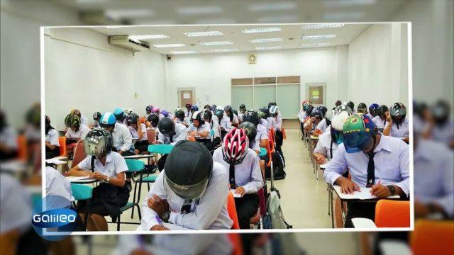 Helmpflicht für Studenten in Thailand?