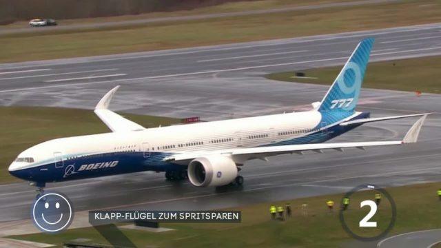 Jungfernflug: Boeing 777X fliegt zum ersten Mal mit Klapp-Flügeln