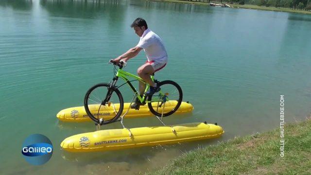 Mit dem Fahrrad über Wasser fahren - so gehts!
