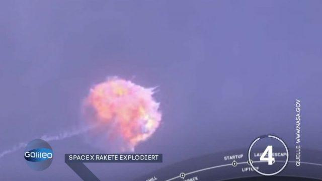 Space X Rakete nach dem Start explodiert